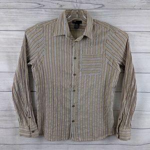 DIESEL Men Button Front Long Sleeve Wrinkle Shirt